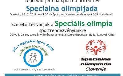 Vabilo na Specialno olimpijado/ Meghívó Speciális olimpiára